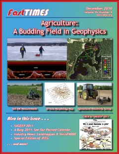 FastTIMES dec 2010 Agriculture: A budding field in Geophysics