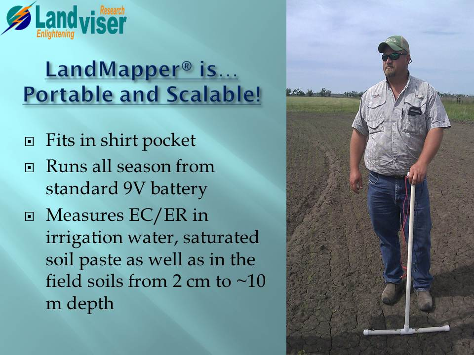 LandMapper is portable and scalable geophysical device