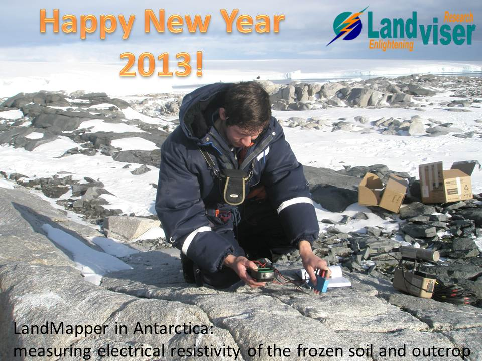Happy New Year 2013! Landmapper in Antarctics
